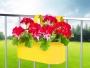 ZÁVESNÝ kvetináč žltý