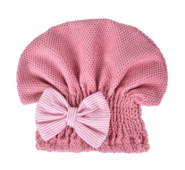 TURBAN na sušenie vlasov koralovo - ružový