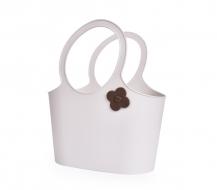 FLOWER štýlová taška smotanová