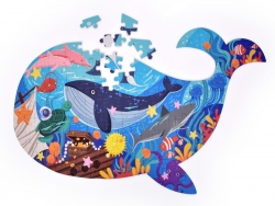 PUZZLE OCEÁN v tvare veľryby
