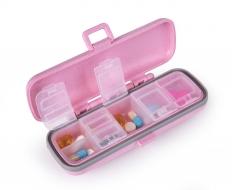 GOECO zásobník na lieky a vitamíny ružový