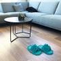 UPRATOVACIE papuče veľkosť 36 - 40 tyrkysové