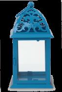 KOVOVÝ svietnik modrý výška 35 cm