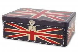 KOVOVÁ dóza s motívom Britskej vlajky