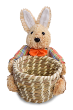 KOŠÍK so zajacom oranžový
