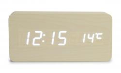 WOODOO digitálne hodiny smotanové