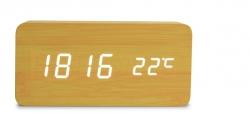 WOODOO digitálne hodiny prírodné drevo