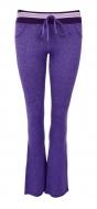 ŠPORTOVÉ nohavice fialové melange