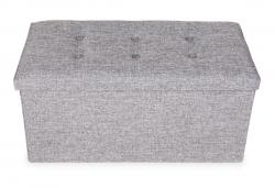 TABURETKA šedá melange veľkosť XL