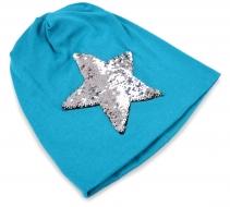 STAR čiapka tyrkysová