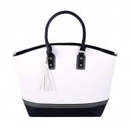 TRINITY kabelka bielo - čierna