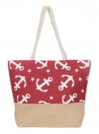 ANCORA taška s motívom kotvy červená