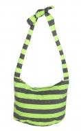 STRIPES textilná taška žlto - šedá