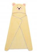 LAGOON TOUCH detské pončo alebo osuška žltá veľkosť L