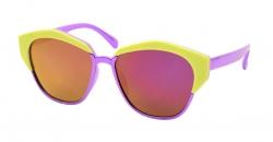 SLNEČNÉ okuliare detské fialovo - žlté