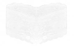 ČIPKOVANÉ boxerky biele