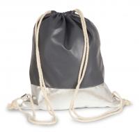 METALIC BAG vak na chrbát šedo - strieborný