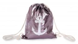 METALIC batoh na chrbát silver