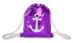 METALIC batoh na chrbát purple
