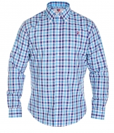 KENT košeľa blue caro