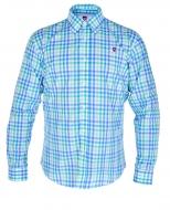 KENT košeľa so zeleno - modrými kockami