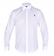 KENT košeľa biela s bodkami
