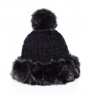 POLARIS pletená čiapka čierna