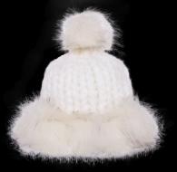 POLARIS pletená čiapka biela