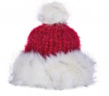 POLARIS pletená čiapka červeno - biela