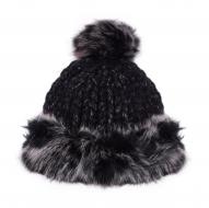 POLARIS pletená čiapka čierna melange