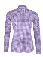 SOPHIA košeľa s čierno - fialovými kockami