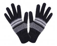 PLETENÉ rukavice čierne