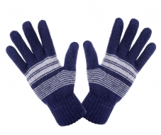 PLETENÉ rukavice tmavo - modré