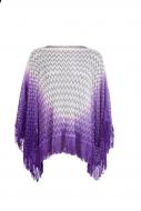 CARMIN dámske pončo purple