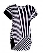 ALLIE tričko čierno - biele