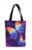 FC ELEGANT textilná taška fialová