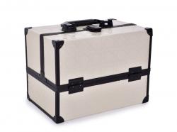 ROZKLADACÍ kozmetický kufrík krémový