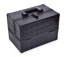 ROZKLADACÍ kozmetický kufrík čierny