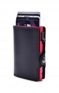 FC SAFE peňaženka na ochranu platobných kariet čierno - červená