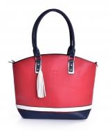 TRINITY kabelka červeno-bielo-modrá
