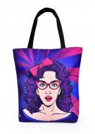 ELEGANT COMICS GIRL textilná taška