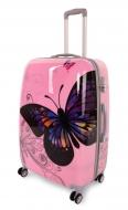 PINK BUTTERFLY cestovný kufor veľký
