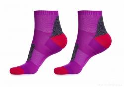 ŠPORTOVÉ ponožky fialovo - červené