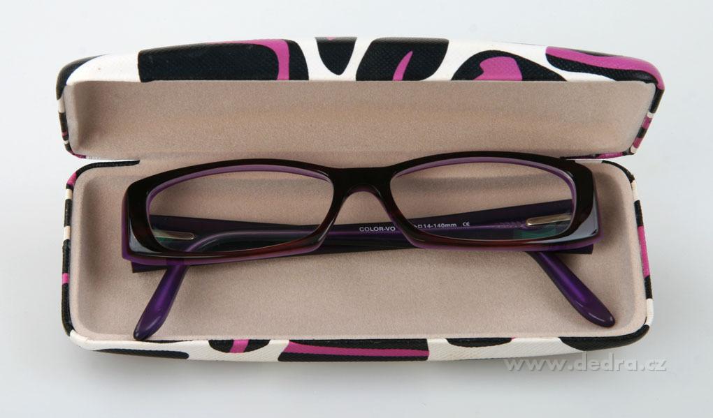 f5c9afdb4 PÚZDRO na okuliare bielo - čierno - fialové - DEDRA online