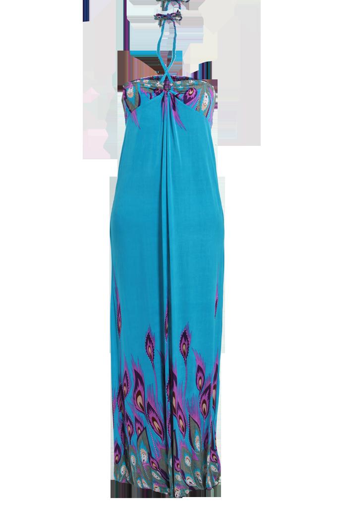 3135027bb496 LYONELLA dlhé šaty azúrové - DEDRA online