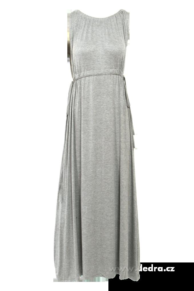 b9f94fdb6dd0 ANNA dlhé šaty šedé - DEDRA online