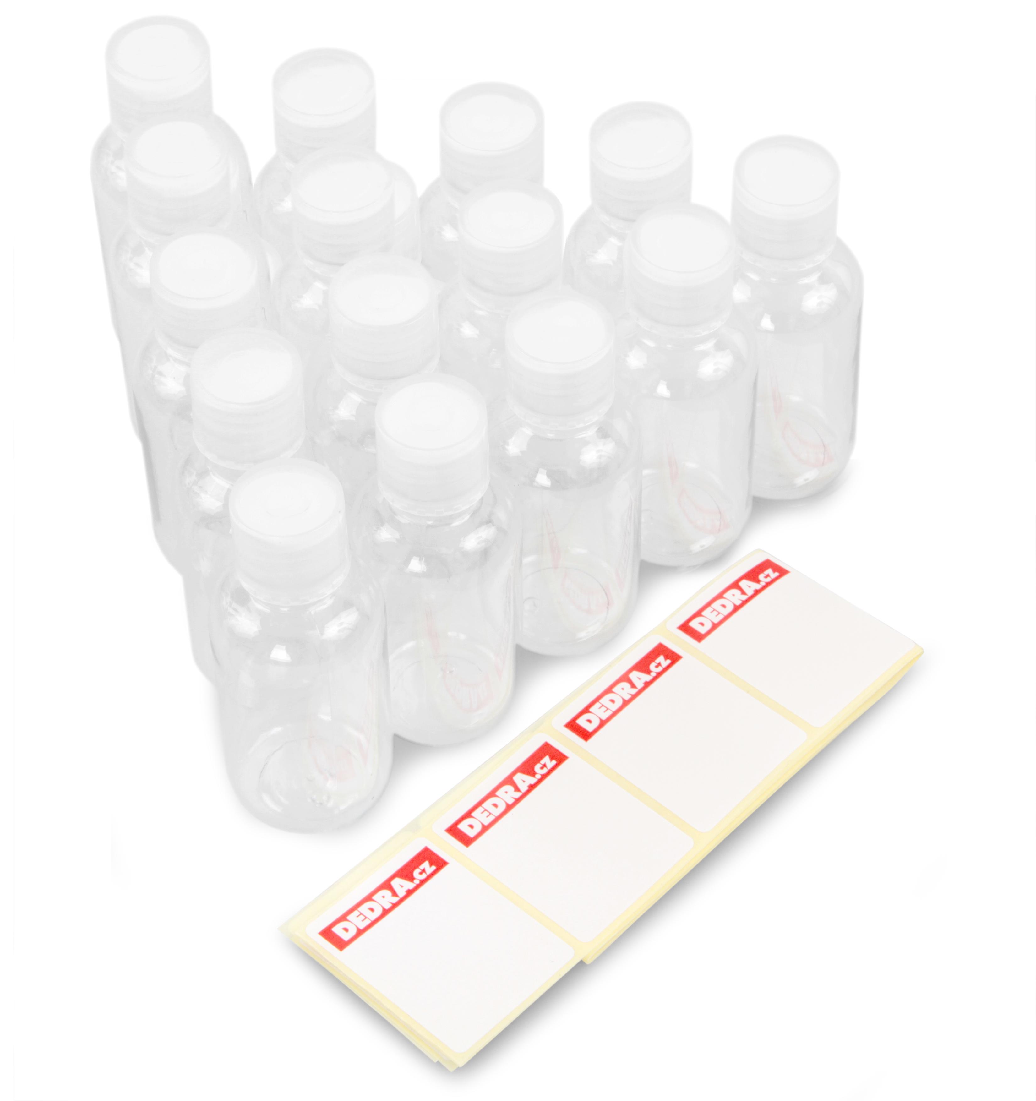 Sada fľaštičiek-vzorky + samolepky