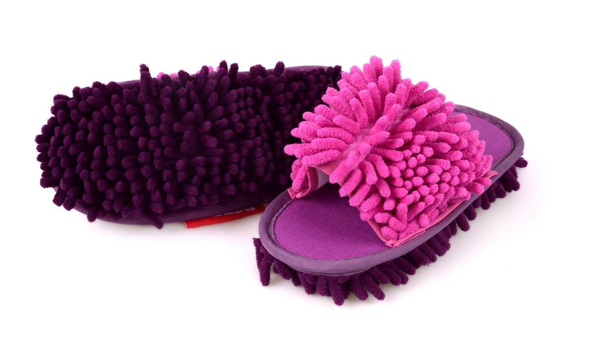 SAMOCHODKY upratovacie papuče ružovo - fialové - DEDRA online 97b70db1496
