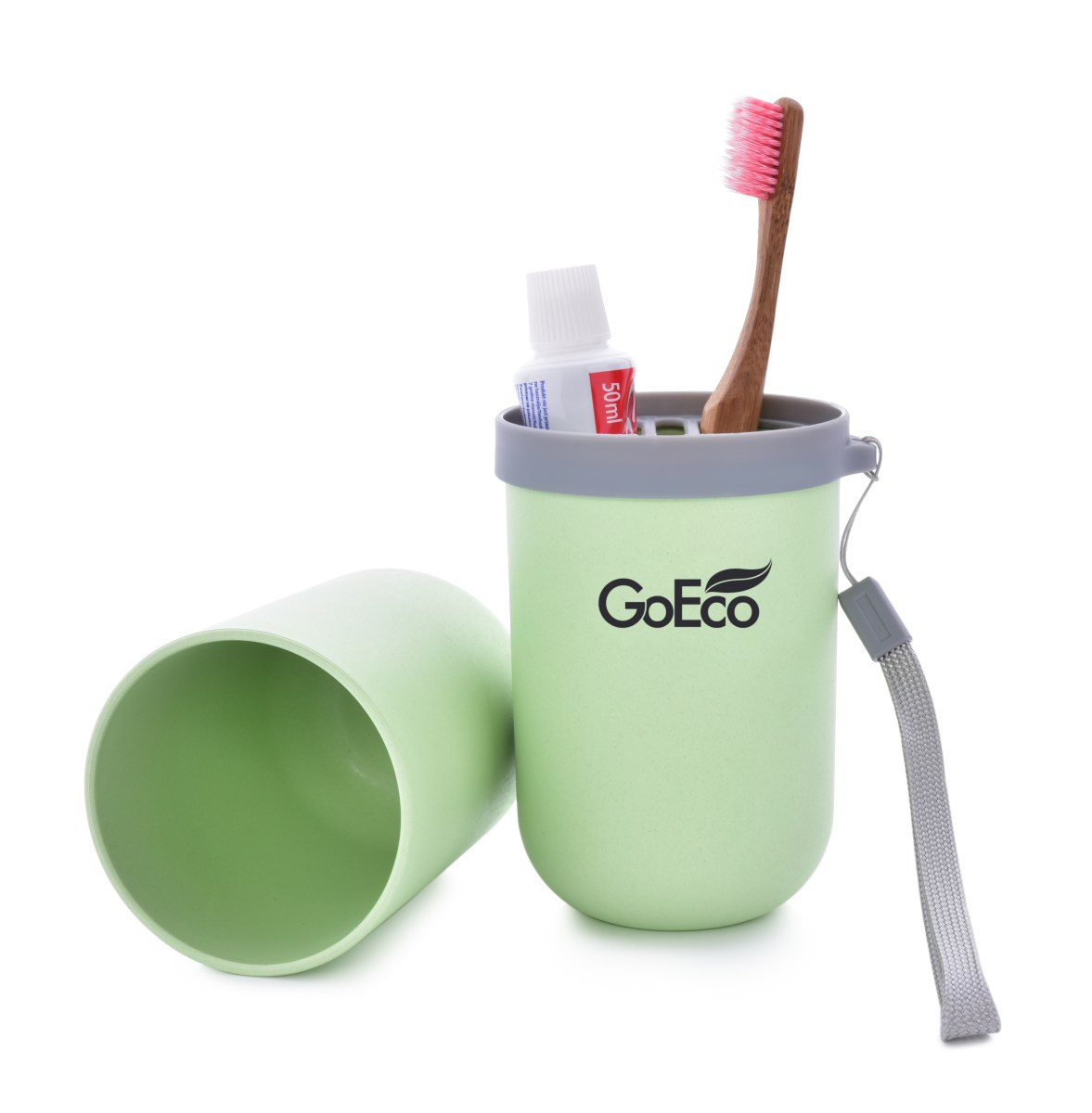 5ef8c47e4 GOECO cestovné púzdro na zubnú kefku a pastu zelené - DEDRA online