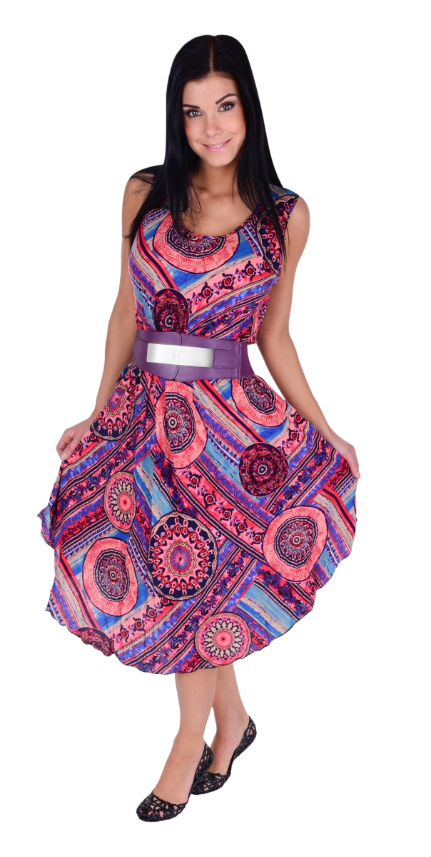 b08b248c5320 AGATE dlhé šaty mandala ornaments - DEDRA online